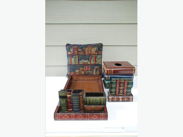 Library/Book Themed Accessories - set of 5 items