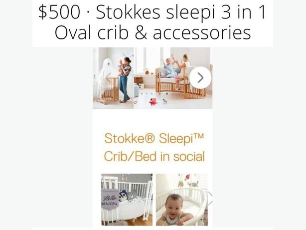 Stokkes sleepi mini crib and 3 in 1 crib set