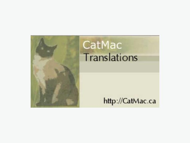 CatMac Translations - English/French Translators