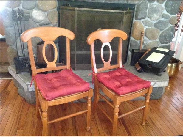 4. tuscan style chairs.