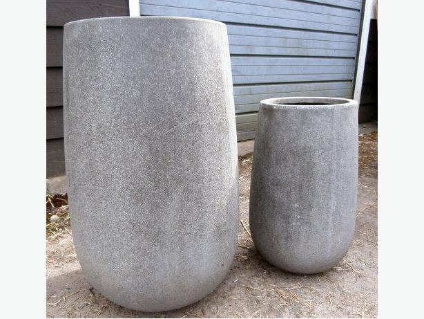 "2 Planters for Sale;  32""H x 16""W and 23""H x 11""W."