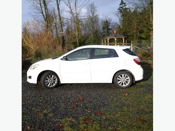 2010 Toyota Matrix.  Low Kms in excellent condition