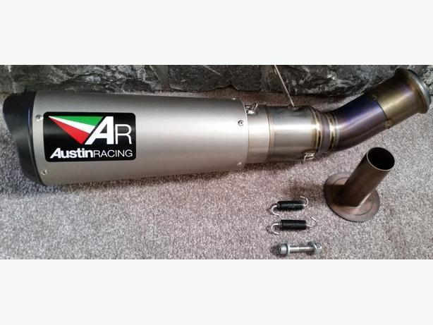 KTM SUPERDUKE 1290 BELLY EXIT Titanium DE-CAT EXHAUST SYSTEM AUSTIN RACING V3