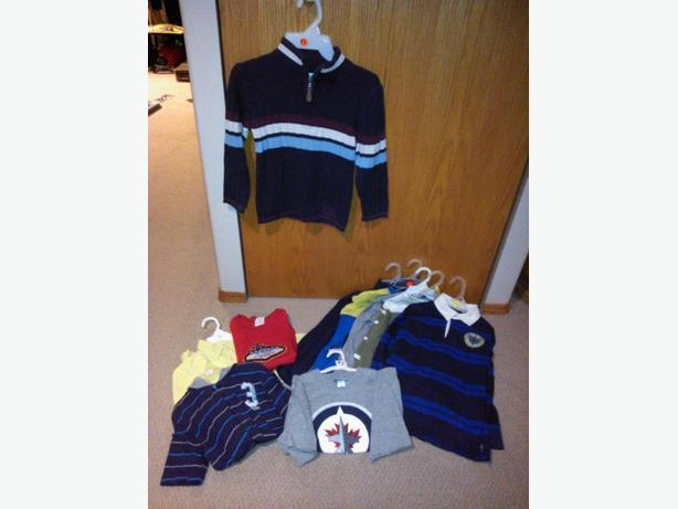 9 boys clothing items in size 7-8 for one price