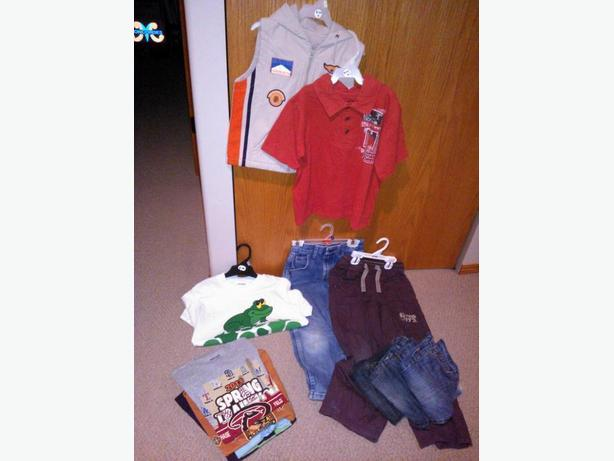 13 boys clothing items in size 6 for one price