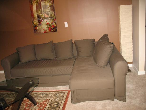 IKEA corner sectional sofa bed