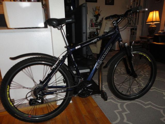 Schwinn 24 Speed Mountain Bike With Fenders Like New
