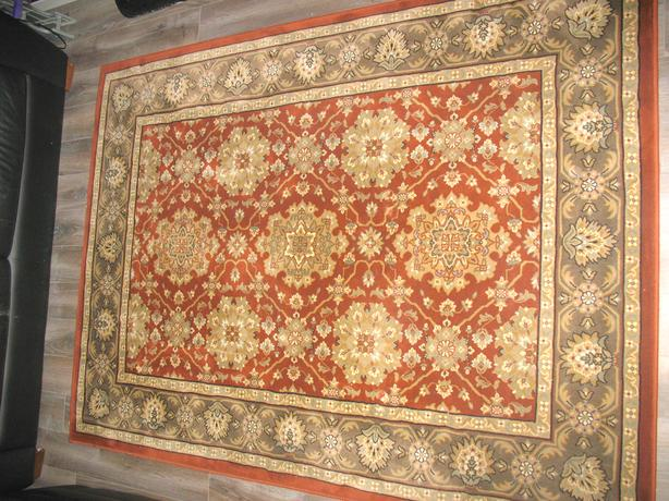 Rugs  - Persain (red/green) or contemporary (black white beige) 5x7 approx