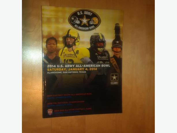 OFFICIAL 2013 & 2014 U.S. ARMY ALL-AMERICAN BOWL GAME PROGRAMS