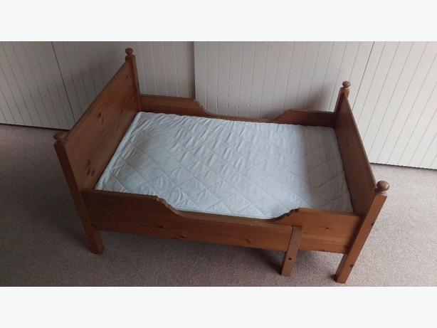 Ikea Extendable Leksvik Toddler Bed With Mattress EUC