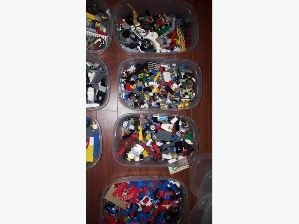 Variety of lego pieces