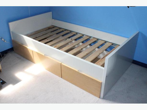 Ikea twin size bed frame orleans ottawa for Used bed frame with storage