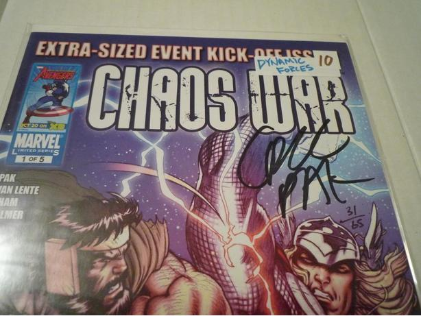 Chaos War #1 Signed Dynamic Forces Edition w/COA