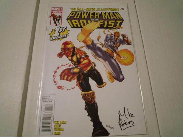 Power Man and Iron Fist Signed Dynamic Forces w/COA