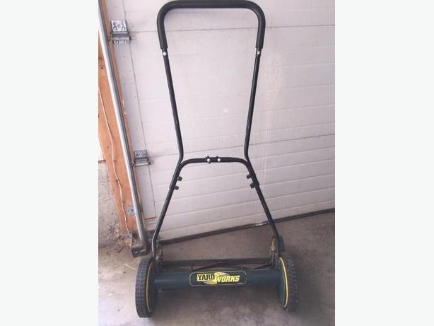 Large push lawn mower