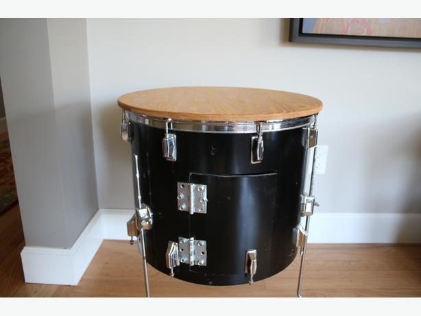 Floor Tom Drum Side Table
