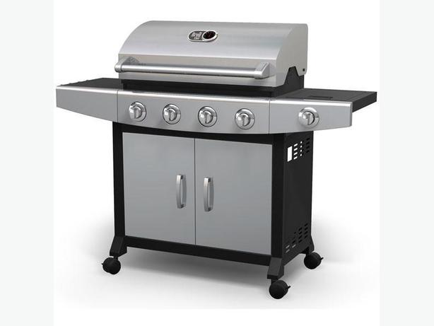 Shop Broil chef 4 Burner LP Barbecue with Side Burner Propane Gas Grills