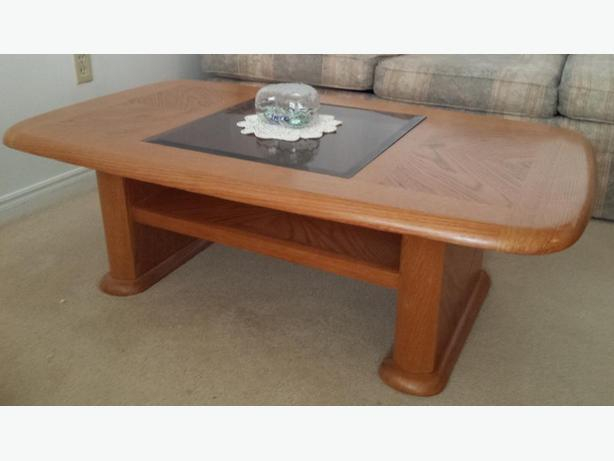 Coffee Table with clear glass top