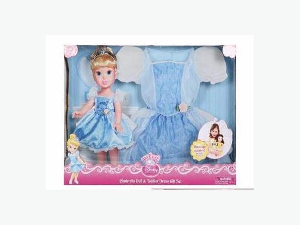 Like New Cinderella Dress or Costume with Matching Doll and Tiara -  $30
