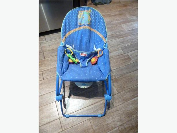 Fisher-Price Calming Vibrations infant chair converts to a rocker for toddlers