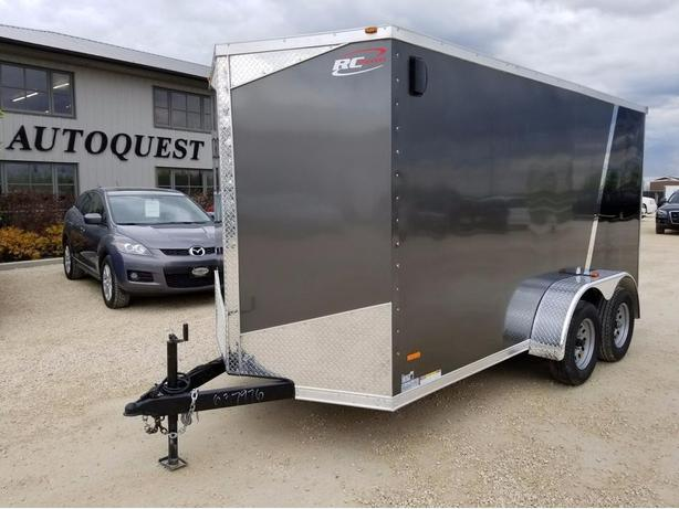"""2017 RC Trailers 6 x 14 x 78"""" (6.5ft) V-Nose Enclosed Cargo Trailer"""