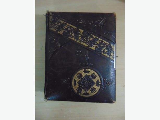 Antique Leather Photo Album 1880's Victorian Civil War Very RARE