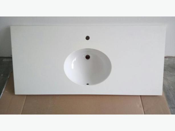 48'' solid wood single sink vanity counter top on SALE