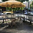 Business for sale with a large patio on Robson Street
