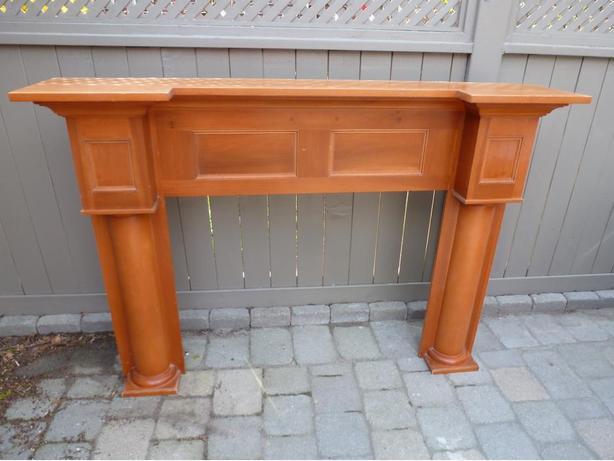 Ash Wooden Fireplace Mantel