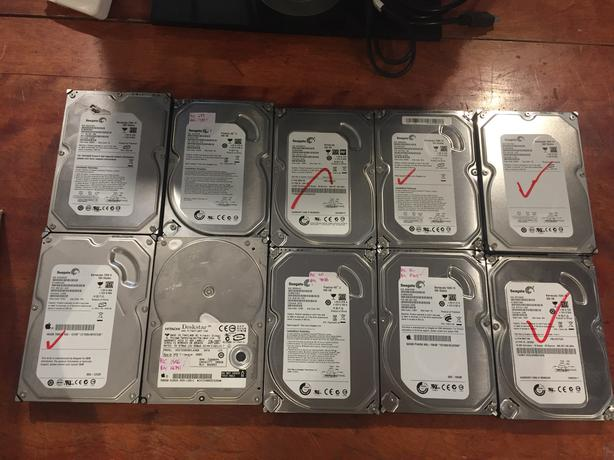 "LOT of 24 3.5"" USED Hard Drives w/o Warranty! OBO"