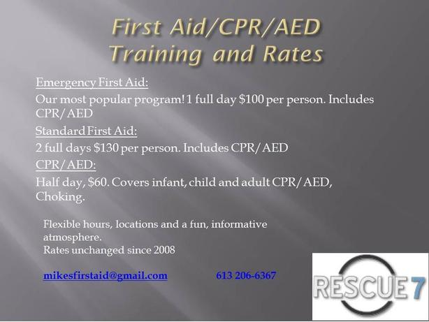 First Aid/CPR Training