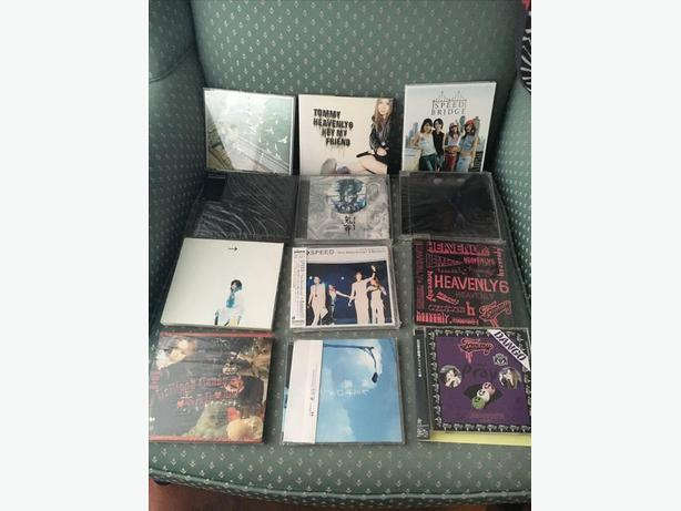 assorted jpop jrock cds for japanese music anime lovers