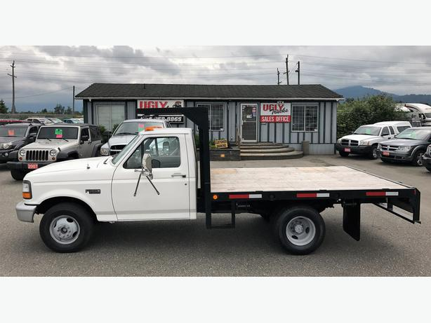 1995 ford f 350 xl flat deck dually outside victoria victoria. Black Bedroom Furniture Sets. Home Design Ideas