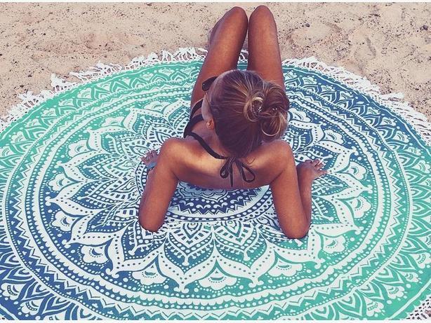 Bohemian Mandala Tapestry Roundie