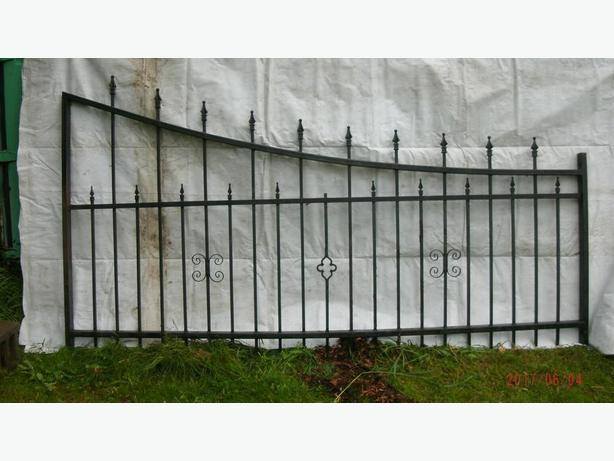 PAIR OF WROUGHT IRON ESTATE GATES