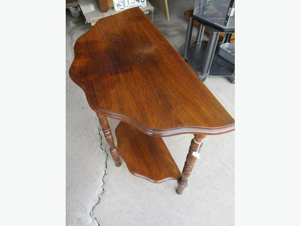 1950S ESTATE HALFMOON END TABLE