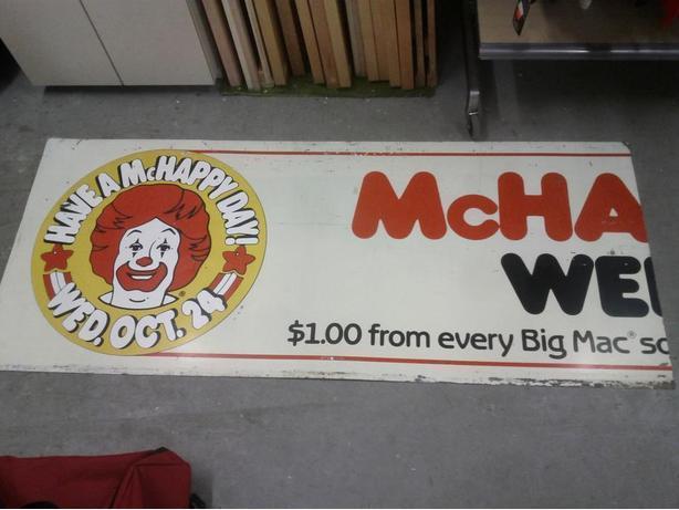 Ronald McDonald Sign