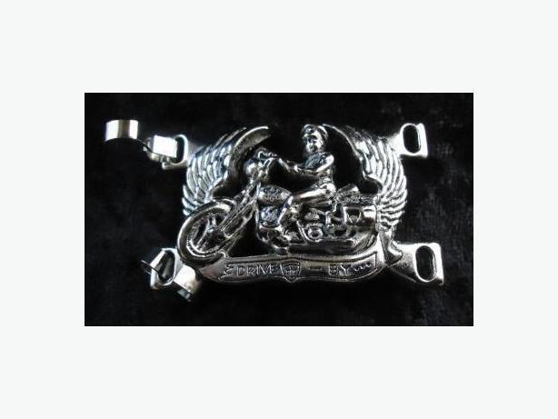 Belt  / Ceinture de moto ou punk en sterling - rare