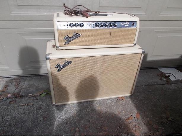 1964 FENDER Blond TREMOLUX PIGGYBACK TUBE AMP AMPLIFIER
