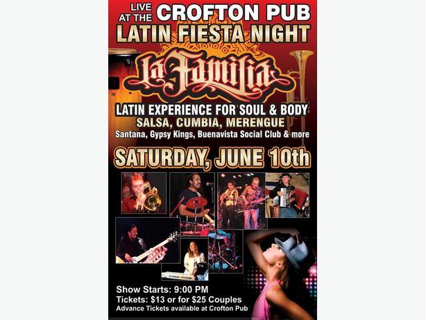 Crofton Pub presents Latin Fiesta Night with La Familia Band