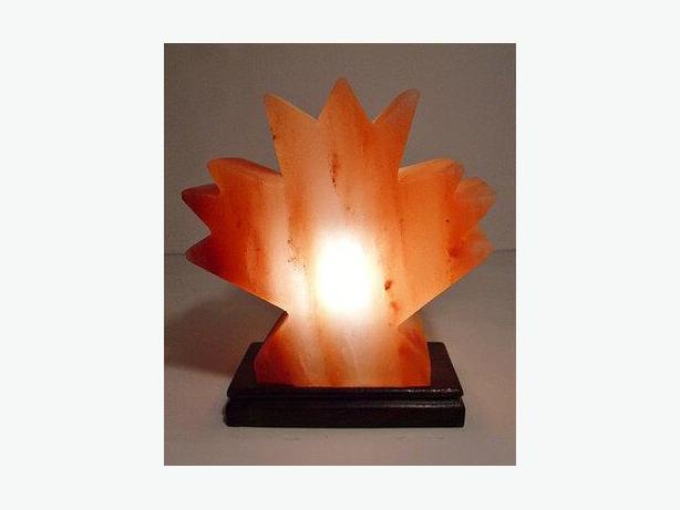 Buy Himalayan Salt Lamp – Mini Maple Leaf Shape