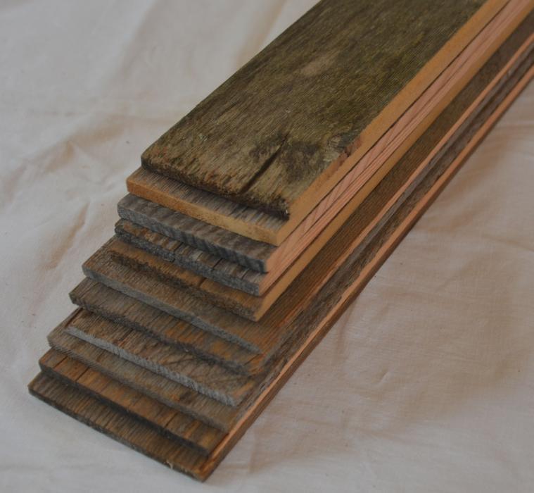 Reclaimed weathered grey barn board veneer lumber for sale for Reclaimed wood flooring seattle