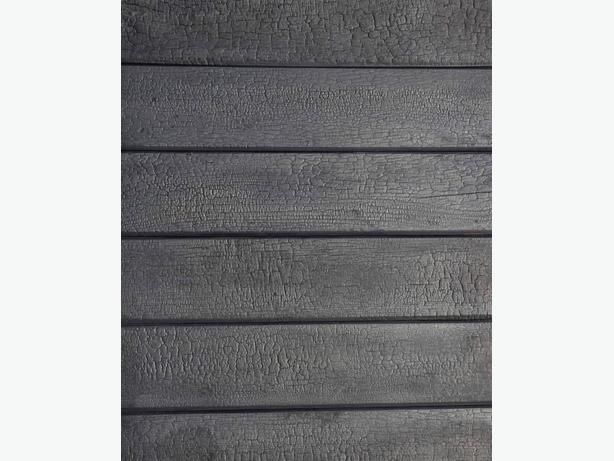 BURNT CHARRED SIDING, Exterior or Interior