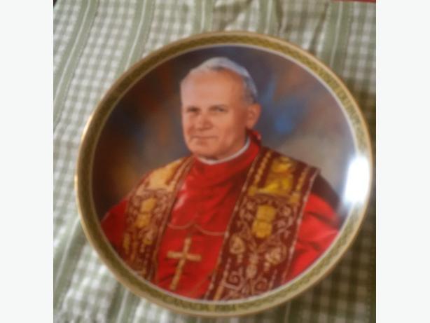 pope john paul plate