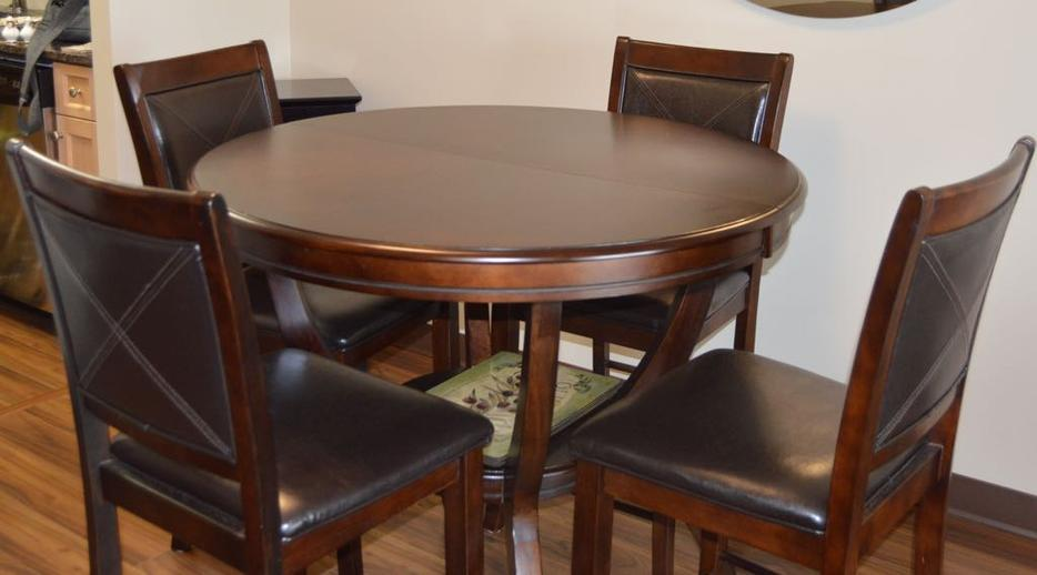 High top dining table chairs central regina
