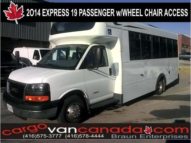 $45,900 · BUS ~ 2014 CHEVROLET EXPRESS 19 PASS W/ 2WHEEL CHAIR ACCESS
