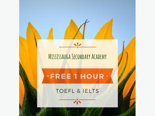 1 HOUR FREE TOEFL & IELTS CLASS - MISSISSAUGA