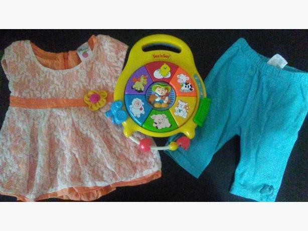 Selling Baby clothing, toys, jogging stroller, jumpers and bouncers.