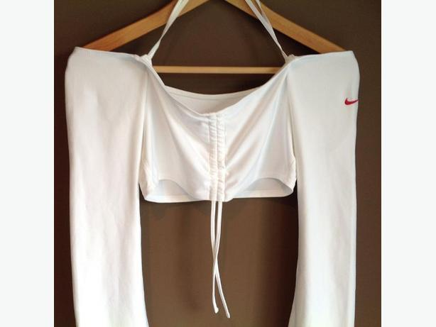 Retro Nike Dry Fit Cropped Top w/ Flare Sleeves - sz S