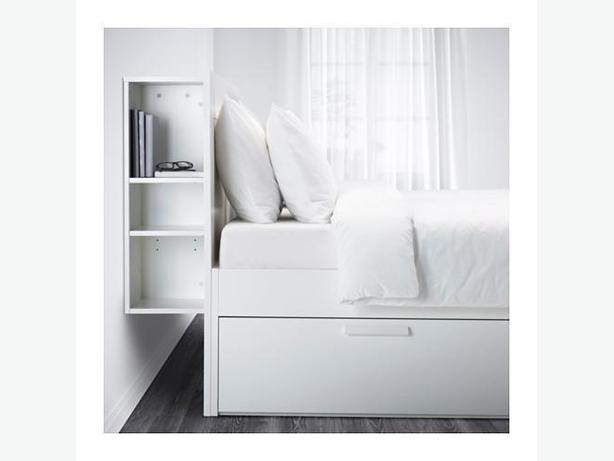 Brimnes  Ikea king bed white